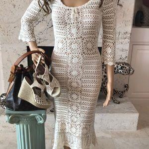STUNNING LACE/ CROCHET Dress.    NWOT